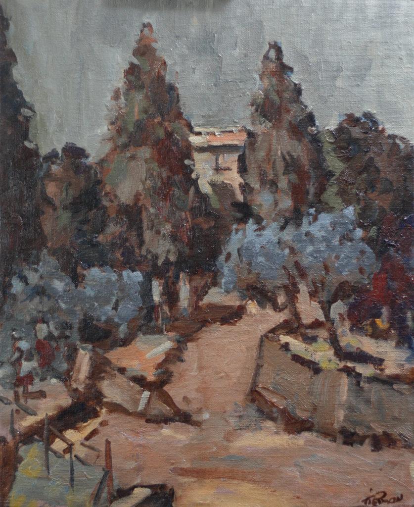 Poplars & Olive Trees